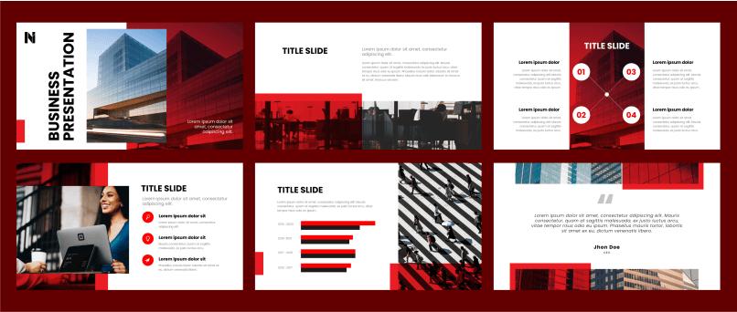 Pitch Deck presentation template designing